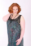 Fashionable plus size model Royalty Free Stock Photos