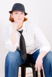 Fashionable Plus Size Model Stock Images