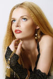 Fashionable portrait of the girl Royalty Free Stock Photos