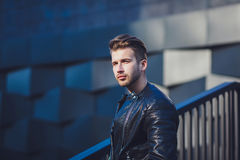 Fashionable portrait. Of a man in stylish clothes Royalty Free Stock Photo