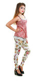 Fashionable posing woman Stock Photography