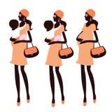Fashionable pregnancy Stock Photos