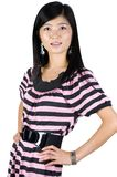 Fashionable, pretty Asian girl Stock Photo