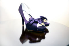 Fashionable Purple Shoes stock photos