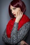 Fashionable Red Nail Polish Royalty Free Stock Images