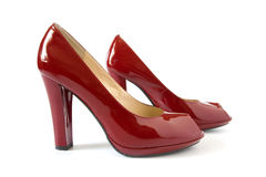 Fashionable red shoes Royalty Free Stock Photography