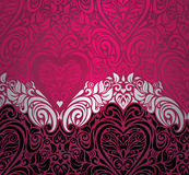 Fashionable red vintage valentine's day invitation background design Stock Photography