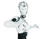 Fashionable robotic girl Royalty Free Stock Images