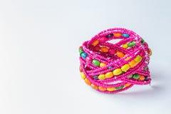 Fashionable round bracelet on white . Royalty Free Stock Image