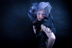 Fashionable sad woman Royalty Free Stock Photos