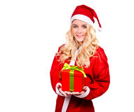 Fashionable Santa Claus woman Royalty Free Stock Photos
