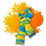 Fashionable scarf. On autumnal background Stock Photography