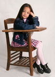 Fashionable school girl Royalty Free Stock Photos