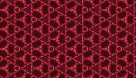 Fashionable seamless geometric pattern with different shapes of  burgundy and pink shades Royalty Free Stock Images