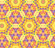 Fashionable seamless pattern with beautiful ornament of yellow, violet and orange shades Stock Image