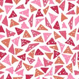 Fashionable seamless pattern with hand-drawn triangles stock photography