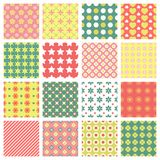 Fashionable seamless patterns Royalty Free Stock Photos