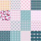 Fashionable seamless patterns Stock Photography