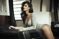 Fashionable sensual beautiful woman posing Stock Photo