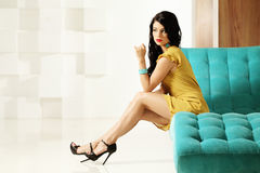 Fashionable woman posing stock images