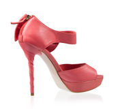 Fashionable shoes pink high heels Royalty Free Stock Photography