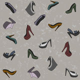 Fashionable Shoes Seamless Pattern Royalty Free Stock Image