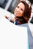 Fashionable shopping woman Stock Image