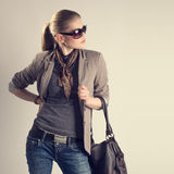 Fashionable Shopping Woman Stock Image