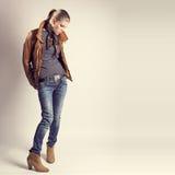 Fashionable Shopping Woman Stock Photo
