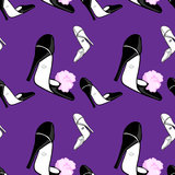 Fashionable shose pattern Stock Image