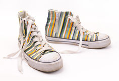 Fashionable sneakers Stock Images