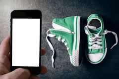 Fashionable sneakers Stock Photo