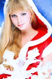 Fashionable snow maiden Stock Images