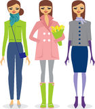 Fashionable spring girl. Girl wearing new spring fashion collection Royalty Free Stock Photo
