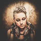 Fashionable steampunk girl Royalty Free Stock Photography
