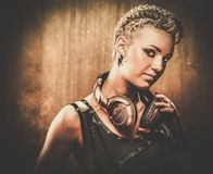 Fashionable steampunk girl stock images