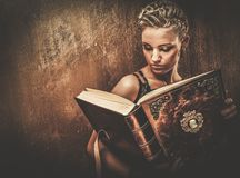 Fashionable steampunk girl Royalty Free Stock Image