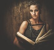 Fashionable steampunk girl Royalty Free Stock Photos