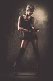Fashionable steampunk girl royalty free stock photos
