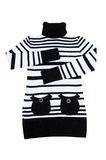 Fashionable striped tunic on a white. Royalty Free Stock Photography
