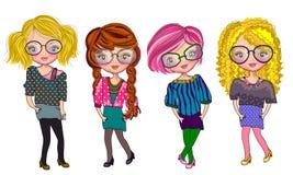 Fashionable style. Teenager fashionable style illustrations concept royalty free illustration