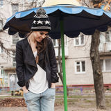 Fashionable stylish girl in black leather jacket Stock Image