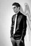 Fashionable stylish man. In angel Stock Image