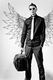 Fashionable stylish man. In angel Stock Photography