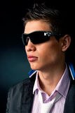 Fashionable stylish man. In the dress of the season Royalty Free Stock Photography
