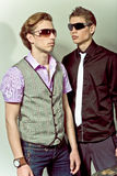 Fashionable stylish man. Two guys in stylish clothes are next to each other Royalty Free Stock Photography