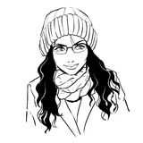 Fashionable stylish woman in winter clothes. Stock Image