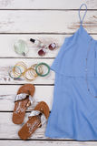 Fashionable summer lady background. Stylish women accessory for fashion look Royalty Free Stock Image