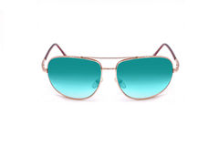 Fashionable sunglasses with colored glass Stock Photos