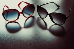 Fashionable sunglasses. Vintage stylized. royalty free stock images